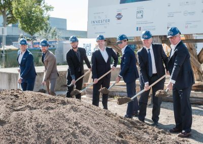 Ground-breaking ceremony for the LAVATER2 project