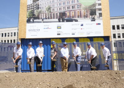 Ground-breaking ceremony Wohngarten