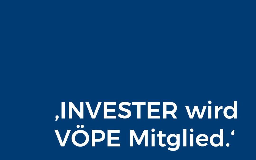 INVESTER wird Mitglied der Vereinigung Österreichischer Projektentwickler