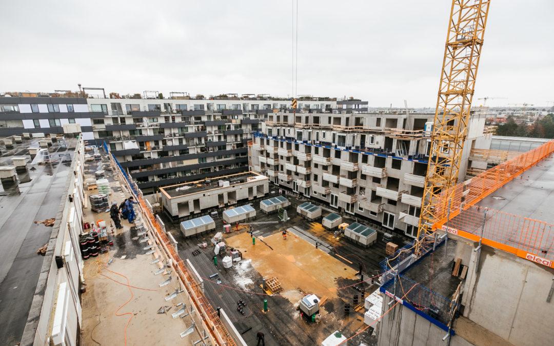 Dachgleiche für Wohnprojekt LAVATER 2 in Wien Donaustadt