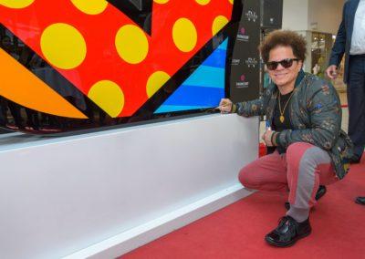 Kunst-Star Romero Britto besucht das Parndorf Fashion Outlet