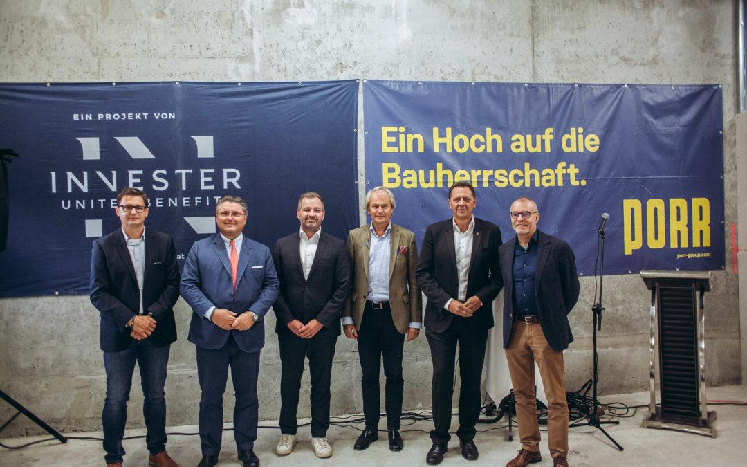 Dachgleiche für Wohnbauprojekt WOHNGARTEN in Wien Simmering